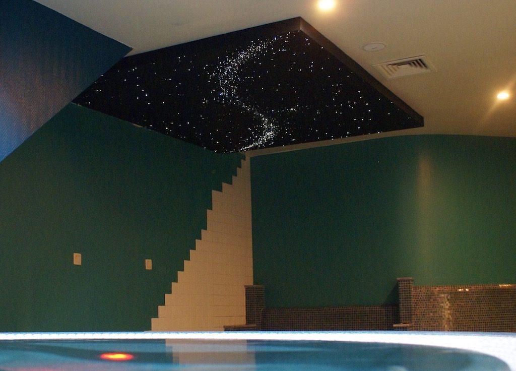led sterrenhemel verlichting plafond badkamer ideeen luxe voorbeelden ideen spa wellness resort sauna prive