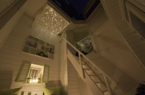 sterrenhemel plafond verlichting buiten dakterras balkon LED mycosmos