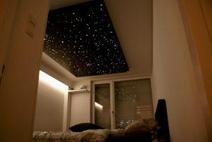 led Sterrenhemel plafond verlichting romantisch slaapkamer design realistisch verlaagd