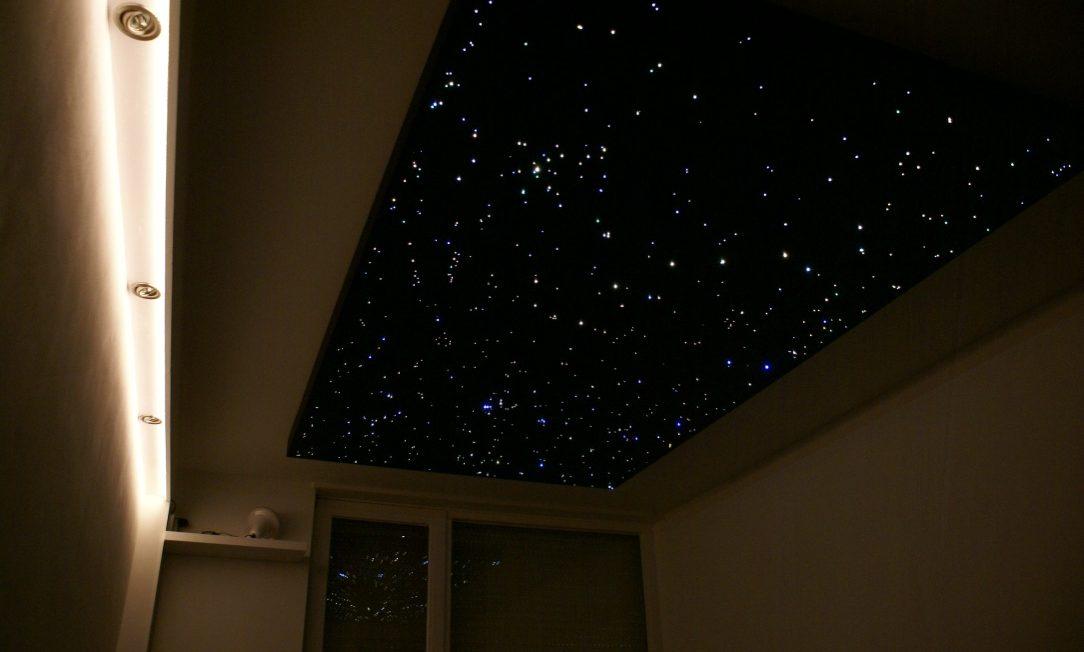 led Sterrenhemel plafond verlichting verlaagd slaapkamer design romantisch realistisch