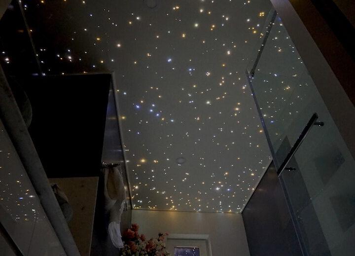 MyCosmos plafond étoilé fibre optic led ciel etoile etoilé spa jaccuzi salle de bain chambre photos image