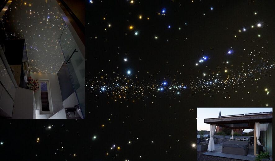 mycosmos sterrenhemel led verlichting plafond glasvezel melkweg badkamer onder de sterren hemel luxe design