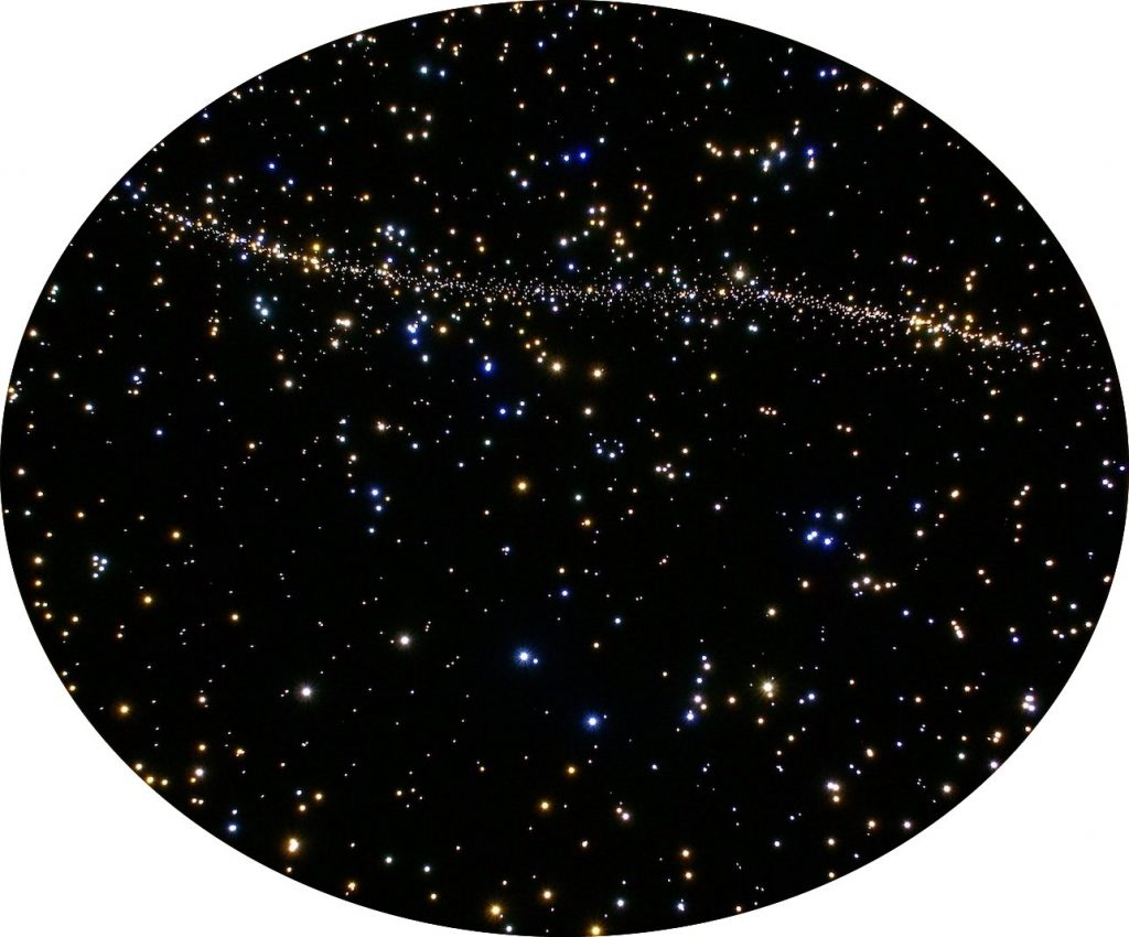 Exact Copy Of The Starry Night Sky Round Star Ceiling