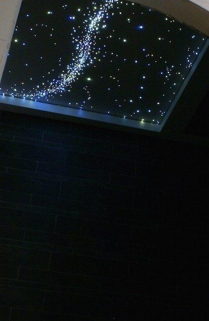 Badezimmer sternenhimmel met milchstra e und sternschnuppe - Badezimmer sternenhimmel ...
