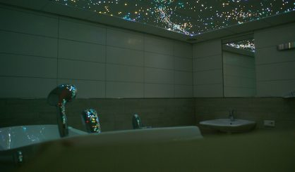 Fiber optic star ceiling panels LED tiles boards bathroom sauna spa wellnes resort twinkling stars sauna spa wellness resort starry night sky fibre light acoustic boards lighting twinkle 3