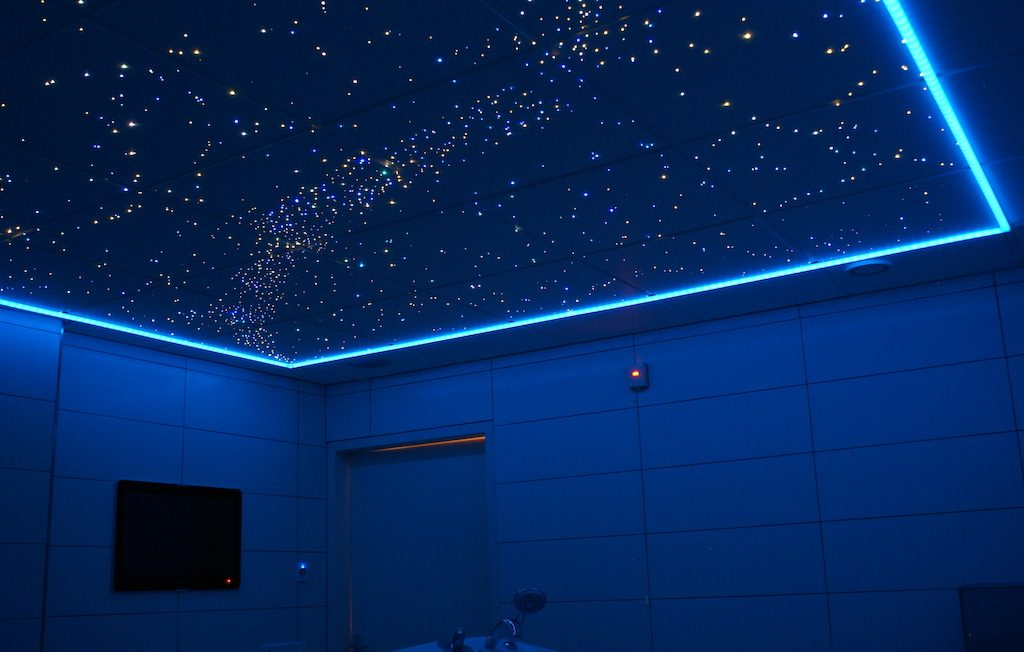 sterrenhemel badkamer met 3000 sterren in een
