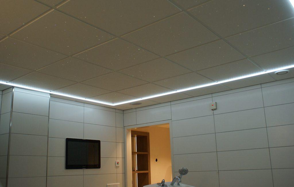 Sterrenhemel Verlichting Plafond LED glasvezel badkamer Sauna ledstrips verlichting luxe mooie design spa wellness resort