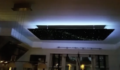 keuken plafond keukenverlichting plafond ideeen voor LED Sterrenhemel Glasvezel sterrenplafond keuken huiskamer luxe interieur design