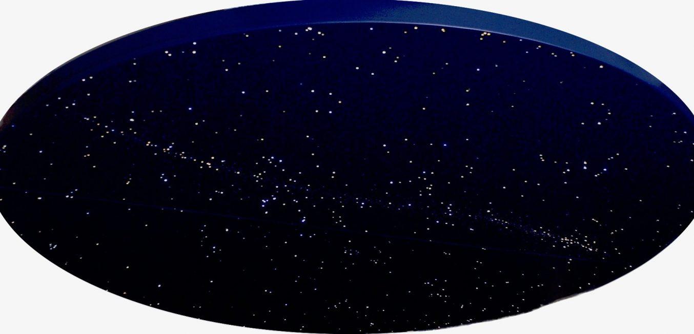 runde sternenhimmel decke mit milchstra e und sternschnuppen mycosmos. Black Bedroom Furniture Sets. Home Design Ideas