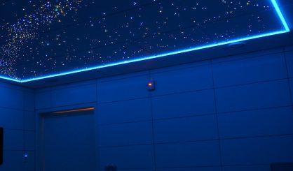 plafond étoilé ciel etoile Fibre Optic Plafond led photos image chambre salle de bain sauna spa voies lactées