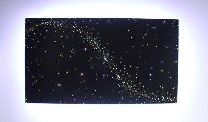 Keuken Plafondverlichting met een sterrenplafond verlichting voor een sfeervol dineren bij het sterrenlicht.