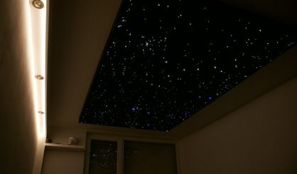 Fiber optic star ceiling panels LED lighting bedroom design tiles boards realistic MyCosmos