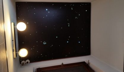 Sternenhimmel Decke led toiletten wc Badezimmer beleuchtung lampe glasfaser fur mit licht mycosmos