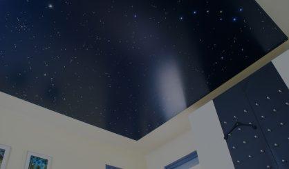 Ciel toil led plafond chambre etoile mycosmos for Fibre optique pour plafond
