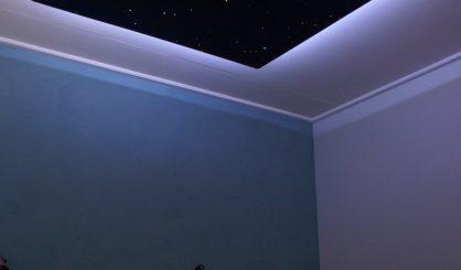 plafond ciel étoilé led fibre optic chambre plafonnier luxe blanc fibres optiques en pour deco eclairage au lumineuse