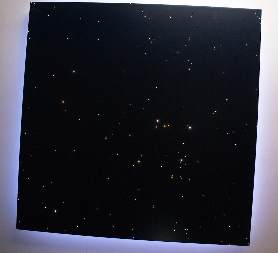 plafond ciel étoilé led fibre optic chambre en pour deco eclairage au lumineuse plafonnier luxe blanc fibres optiques