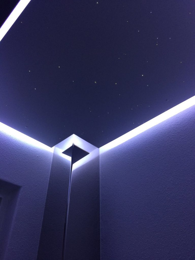 Toilet indirect LED strip ceiling lighting | MyCosmos