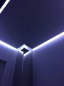toilet plafond verlichting wc led strip indirecte inbouw idee spot sterrenhemel glasvezels mycosmos
