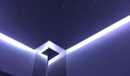 toilet plafond verlichting wc led strip indirecte inbouw idee spot sterrenhemel glasvezels mycosmos