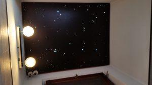 toilettes wc led eclairage design indirecte étoilé plafond ciel fibre optic salle de bain sauna spa etoiler mycosmos