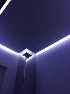 toilettes wc led plafond eclairage design indirecte étoilé ciel fibre optic salle de bain sauna spa etoiler mycosmos