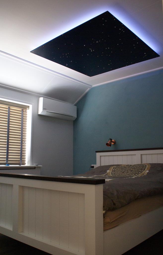 sterrenhemel slaapkamer plafond verlichting Mycosmos indirecte LED verlaagd sterrenplafonds sterrenbeeld babykamer kinderkamer