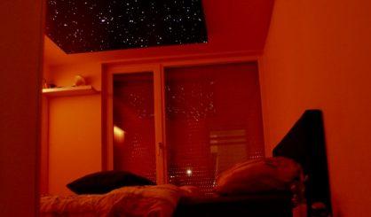 スター天井パネル光ファイバーLEDベッドルームデザインボードタイル現実的な MyCosmos