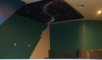スター天井ファイバーオプティカルパネル豪華なバスルームデザインボードタイル現実的な天の川マイコスモス