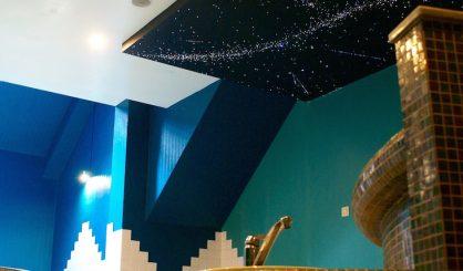スター天井光ファイバー-LED-パネルバスルームデザインボードタイル現実的なボードタイル-MyCosmos