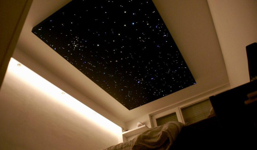 光ファイバーの天井パネルLEDライトのバスルームの寝室のデザインボードのタイル現実的な MyCosmos