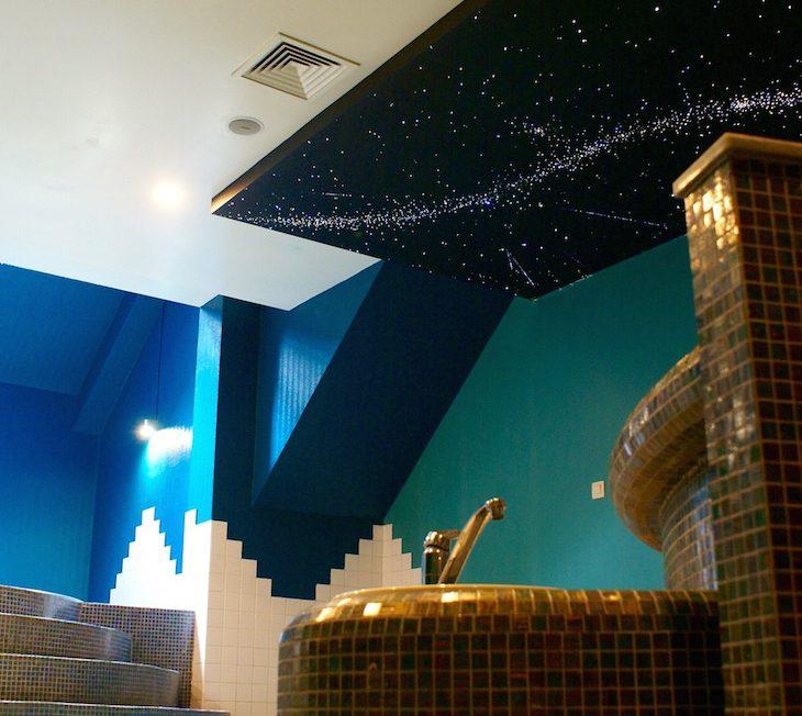 バスルームの星空