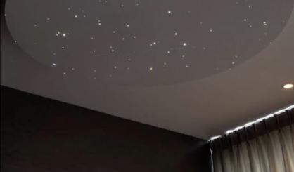 天井 プラネタリウム 光ファイバーの天井パネルLEDライトのバスルームの寝室のデザインボードのタイル現実的な フローティング天井 MyCosmos