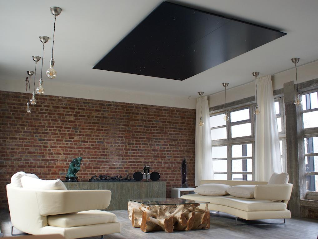 Plafond ciel toil chambre led fibre optique mycosmos for Plafond chambre etoile