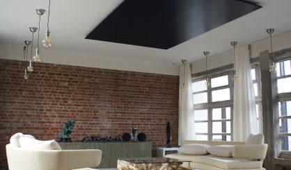 led sterrenhemel plafond verlichting woonkamer design mooi verlaagd voorbeeld ideeen mycosmos