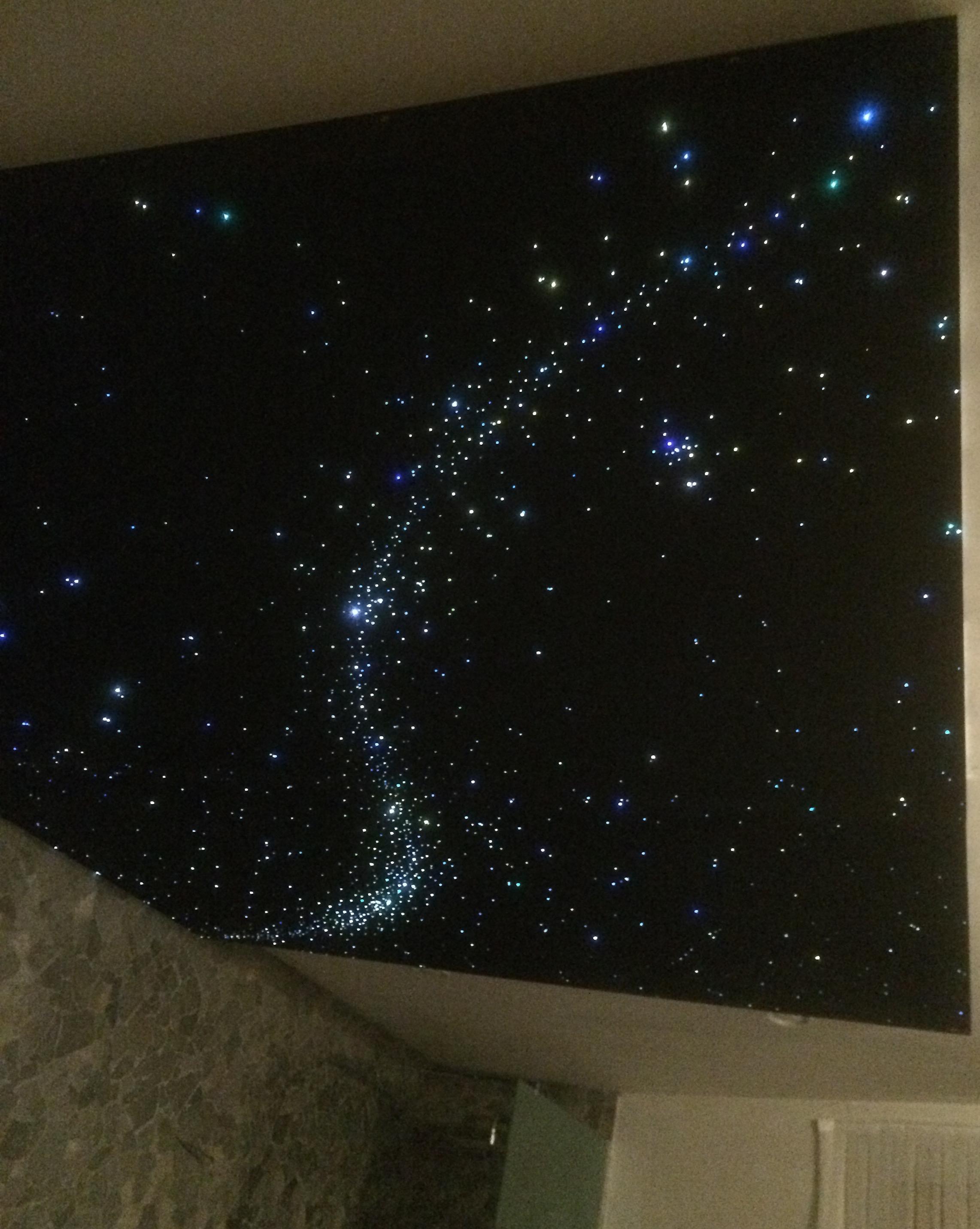 sternenhimmel decke led abgehängte lampe shop schlafzimmer fertig bilder glasfaser beleuchtung licht sternen himmel wohnzimmer panel