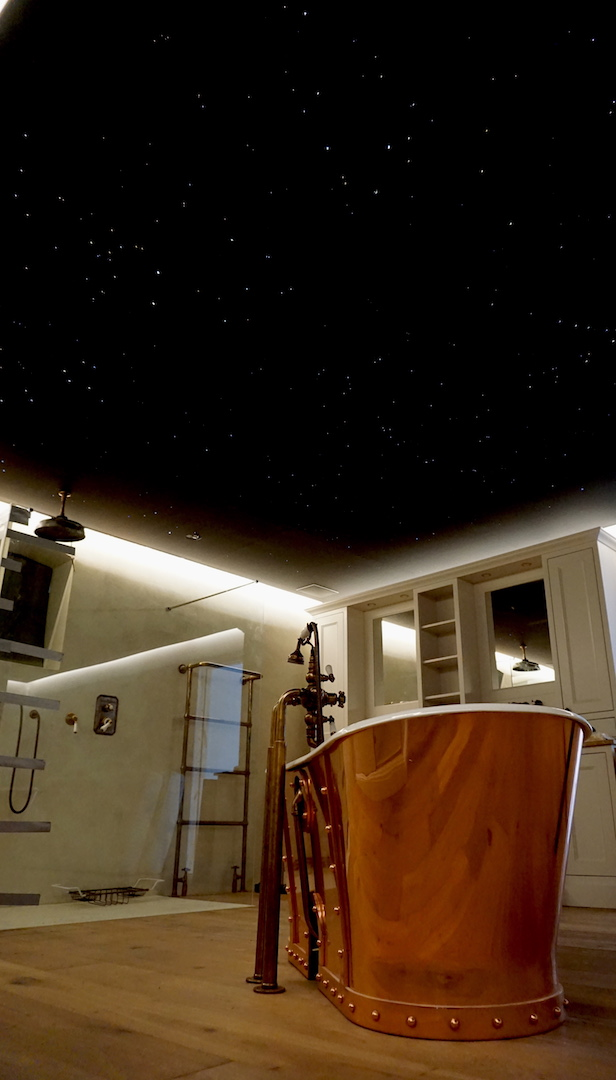 mycosmos sterrenhemel plafond verlichting led sterrenplafond badkamer glasvezel melkweg slaapkamer suite luxe