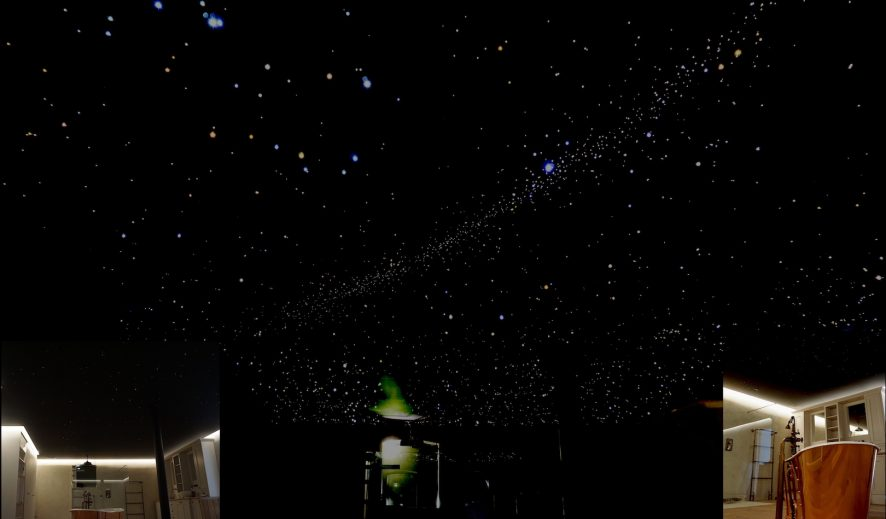 mycosmos sterrenhemel plafond verlichting led sterrenplafond glasvezel melkweg badkamer slaapkamer suite luxe