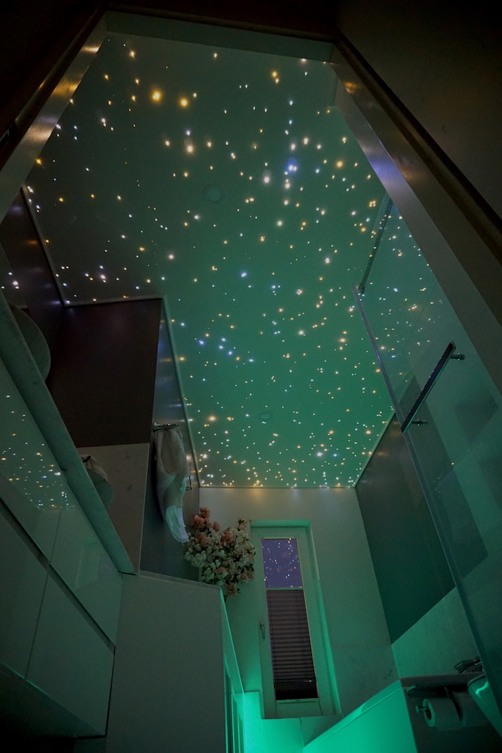 mycosmos glasvezel LED sterren verlichting plafond sterrenhemel spots strip luxe badkamer docuhe wc