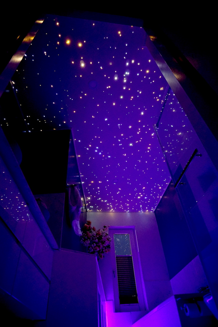 mycosmos led light bathroom fiber optic star ceiling panels shower starry night sky galaxy stars lighting