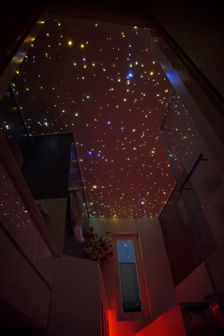 mycosmos led light fiber optic star ceiling panels bathroom shower starry night sky galaxy stars lighting
