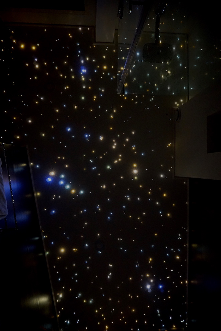 mycosmos star ceiling panels fiber optic led light bathroom shower starry night sky galaxy stars lighting