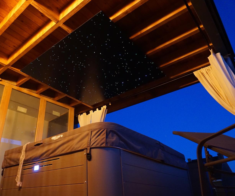 led sterrenhemel plafond verlichting MyCosmos terras jacuzzi glasvezel sterren hemel