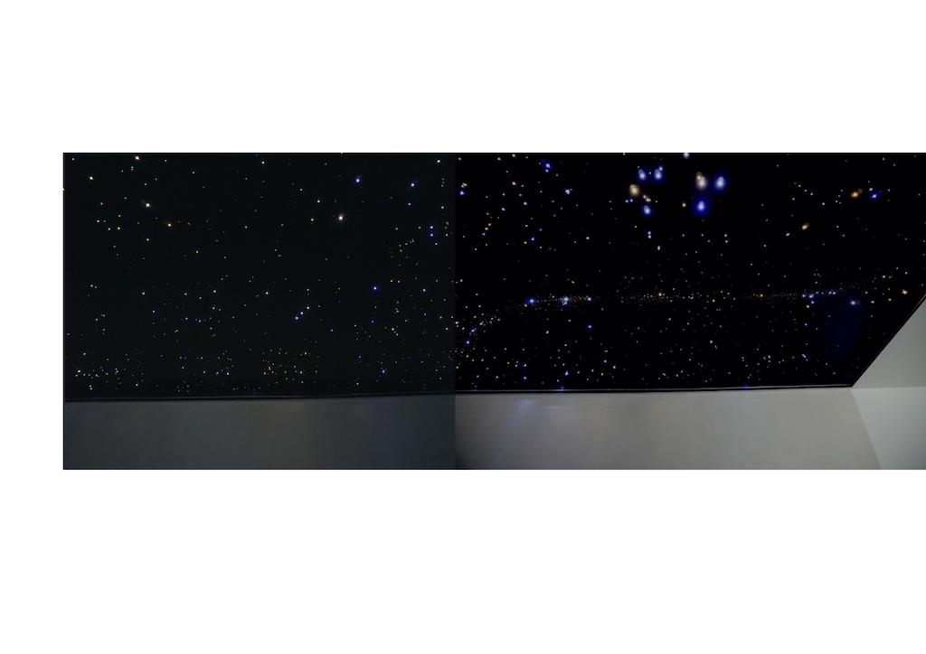 sterrenhemel plafond verlichting mycosmos glasvezel led zwembad melkweg