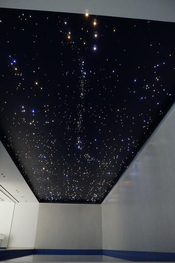 zwembad sterren plafond mycosmos hemel verlichting glasvezel led
