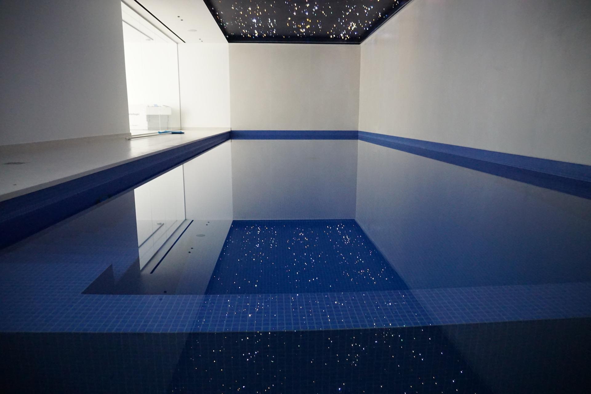 zwembad verlichting sterrenhemel mycosmos led glasvezel plafond bodem